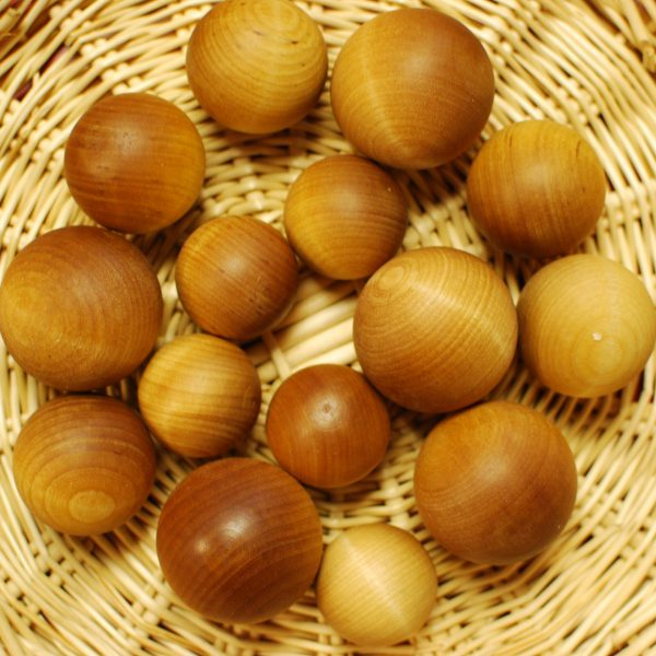Weather Treated Wood Balls