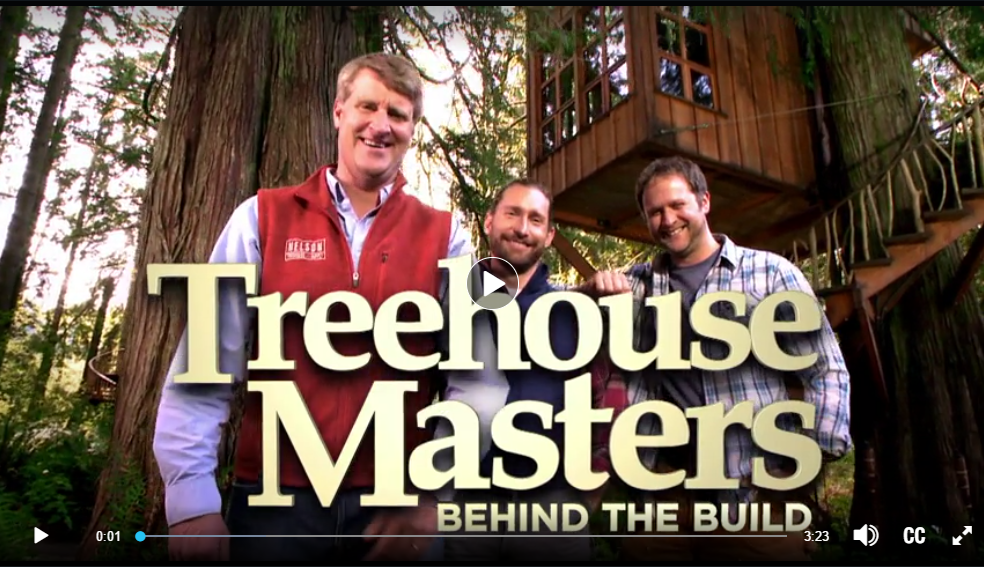 Kodo's TV Debut on Treehouse Masters